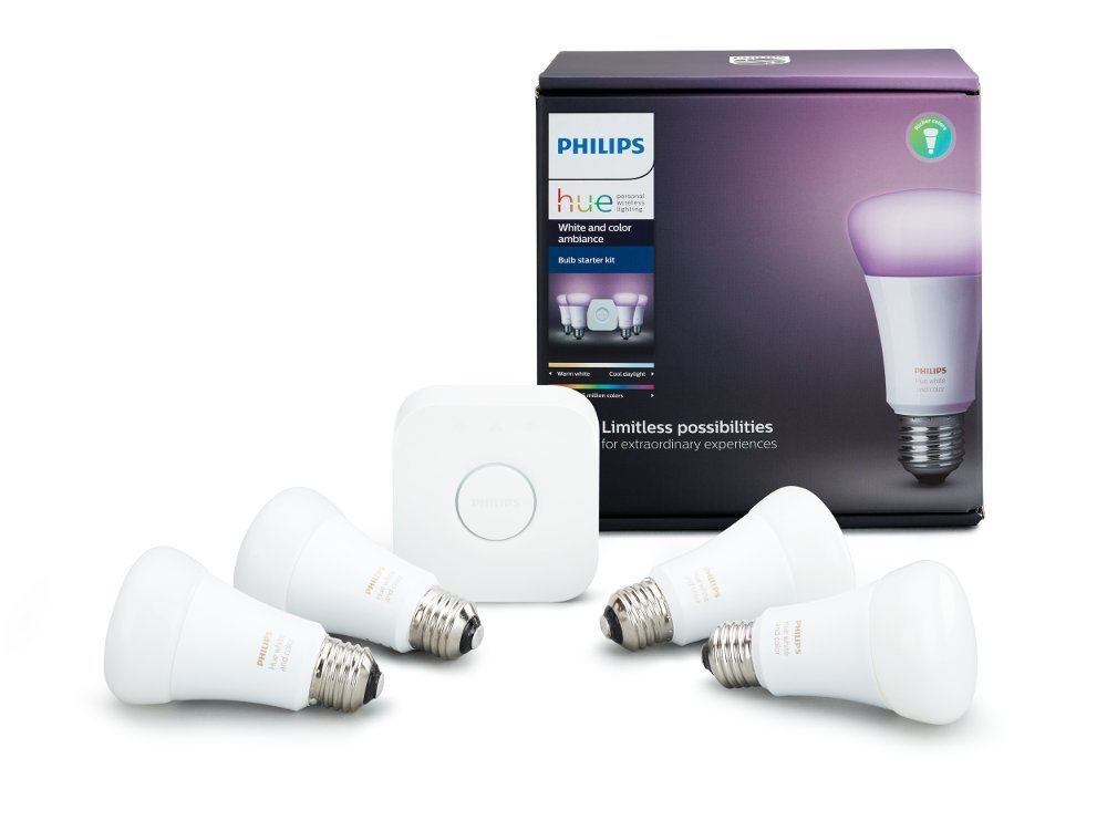 4 bulb Hue white and color ambiance starter kit